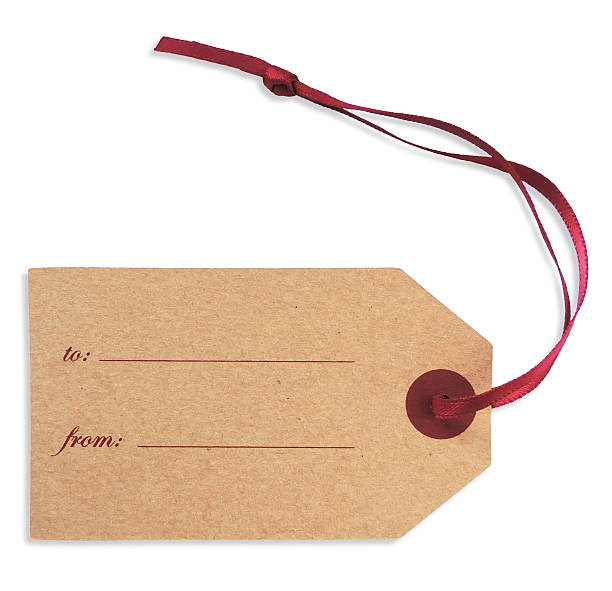 blank gift tag - gift tag note stock photos and pictures