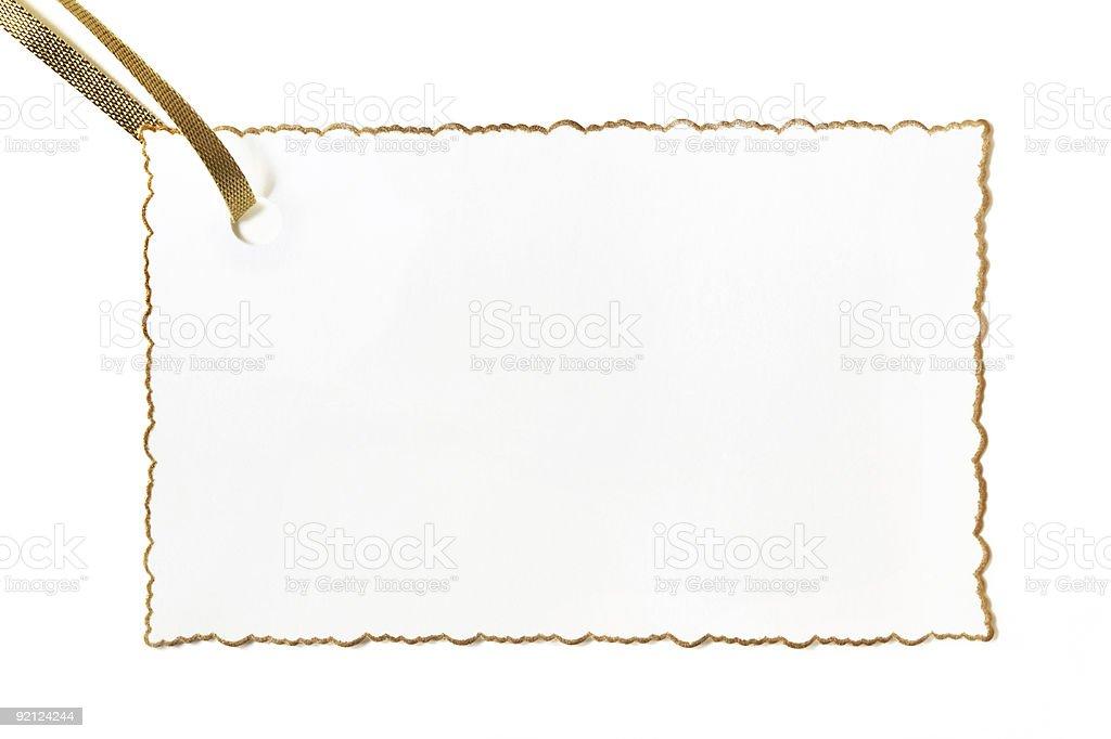 Blank Gilt-edged Gift Card royalty-free stock photo