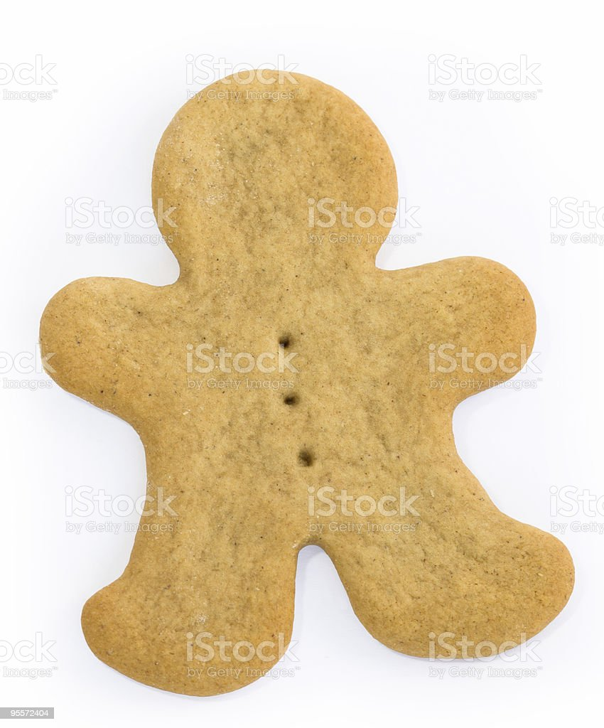 Blank gingerbread man royalty-free stock photo