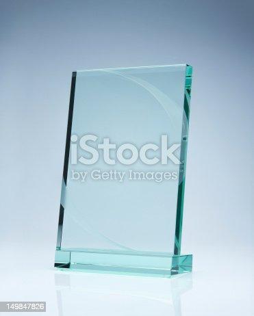 istock Blank glass award 149847826