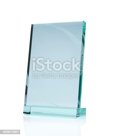 153984410istockphoto Blank glass award 453610957