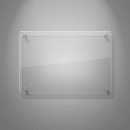 istock A blank glass plate against a white wall 153521791