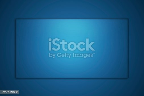 527567107istockphoto Blank glass plate on blue background 527579633