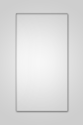 istock Blank glass plate on white background 527567107