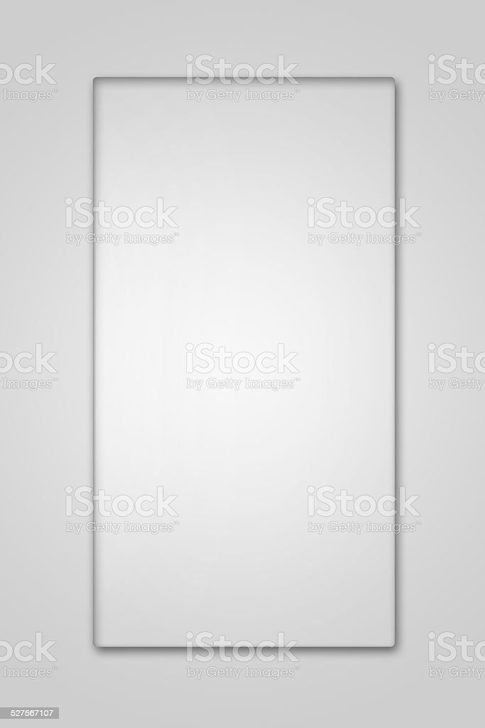 Blank glass plate on white background stock photo