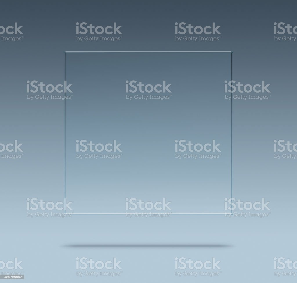 Blank glass plate royalty-free stock photo