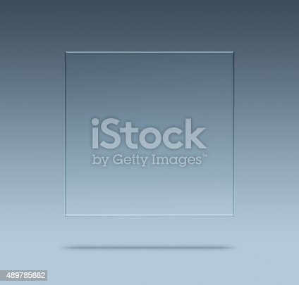 153984410 istock photo Blank glass plate 489785662