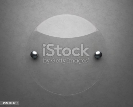 153984410 istock photo Blank glass plate 495916611