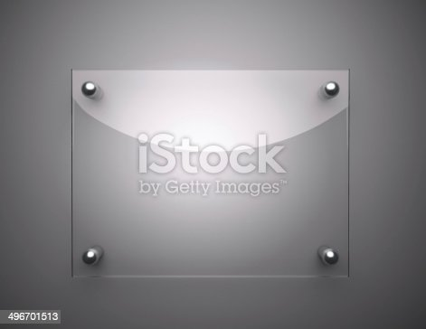 153984410 istock photo Blank Glass Plate 496701513