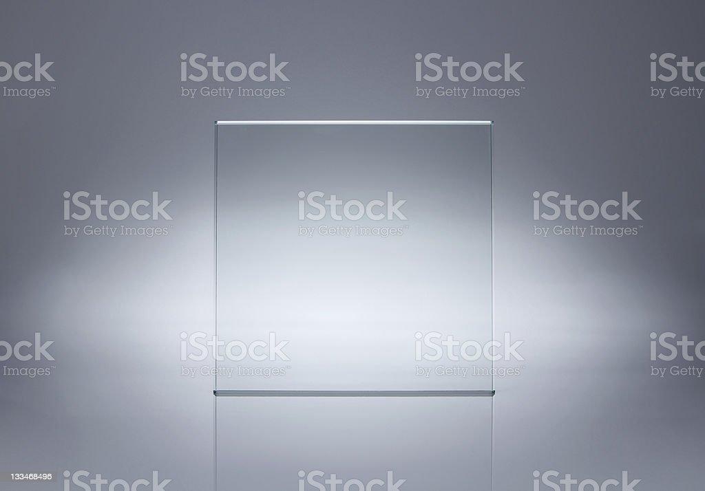 Blanco placa de vidrio con espacio de copia foto de stock libre de derechos