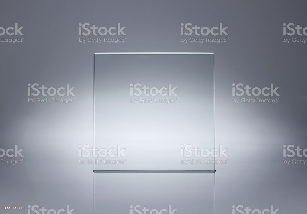 Blank glass plate with copy space