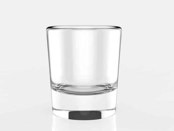 Blank Glass Tumbler for branding. 3d render illustration. Blank Glass Tumbler for branding. 3d illustration. pilsner stock pictures, royalty-free photos & images
