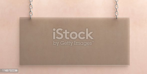 527567107istockphoto Blank glass wall sign mockup, 3d illustration. Office signage template 1165732236