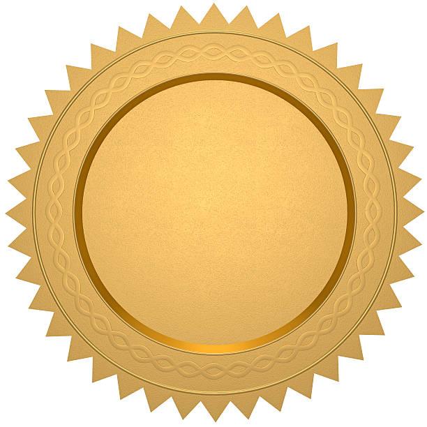 Certificato oro bianco - foto stock