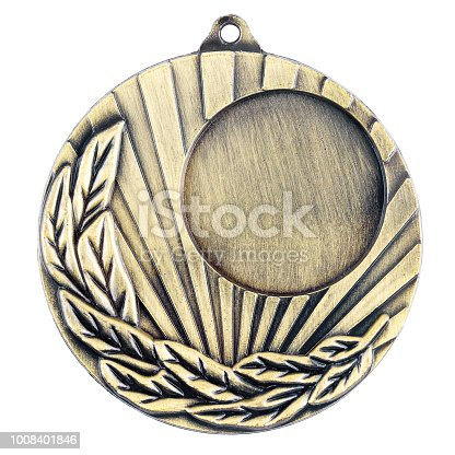 istock Blank gold medal 1008401846