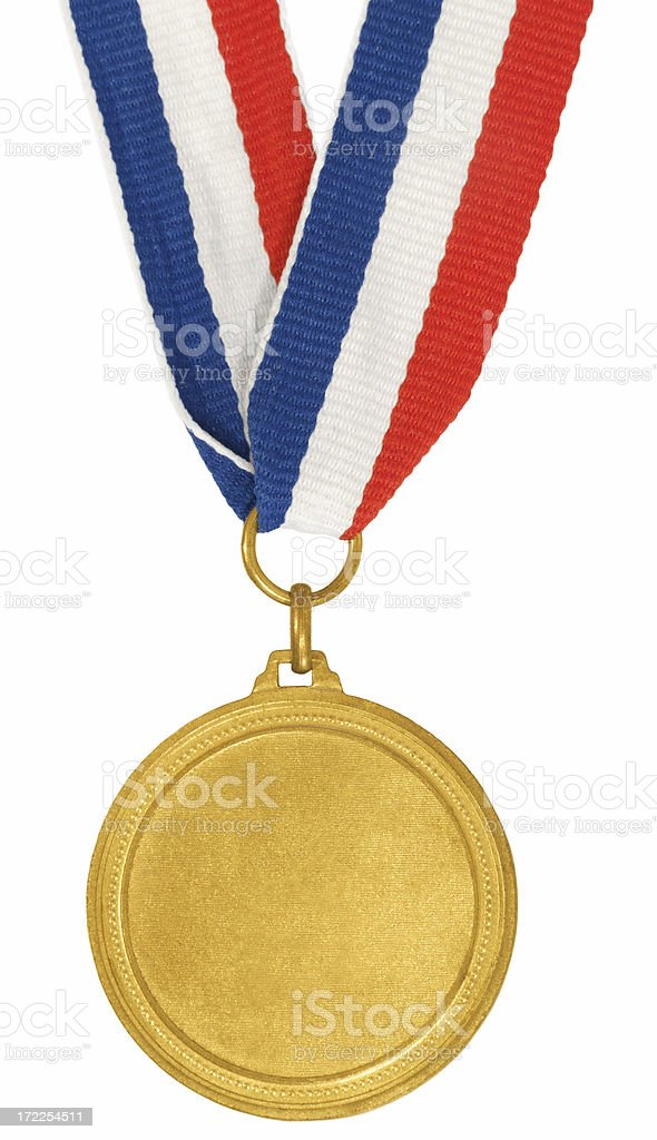 Blank Gold Medal royalty-free stock photo