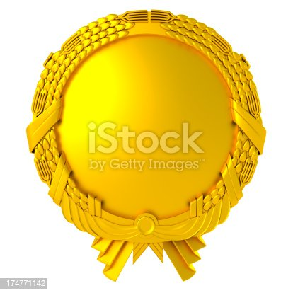istock blank gold medal 174771142