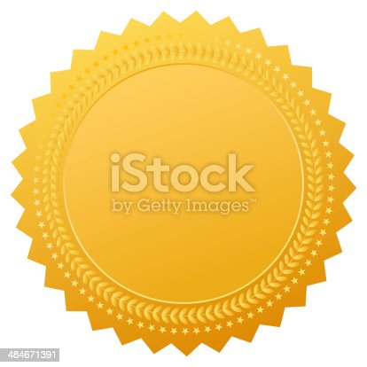 istock Blank gold medal 484671391