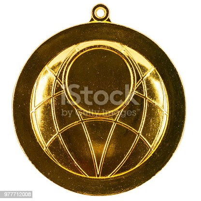 istock Blank gold medal 977712008