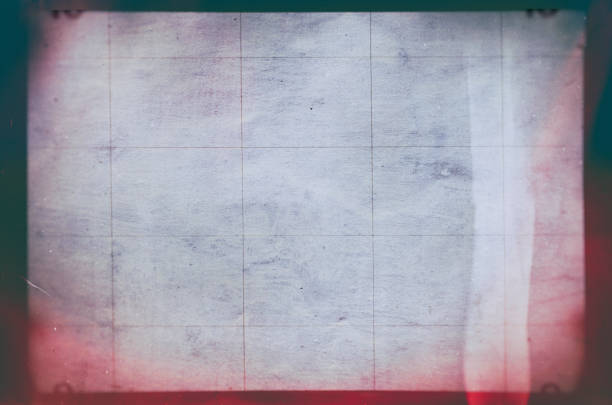 Blank grained and scratched film strip texture background stock photo
