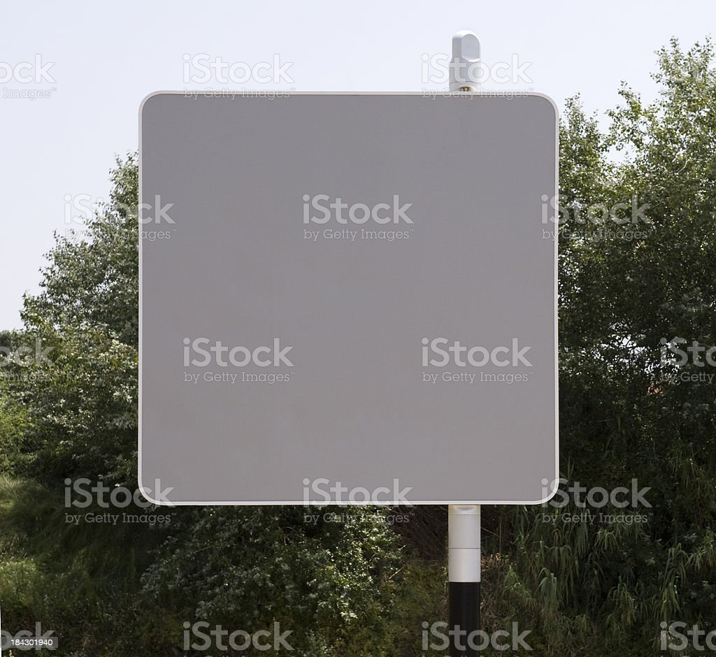 Blank gray sign board royalty-free stock photo