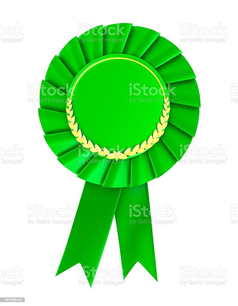 Blank green award badge royalty-free stock photo