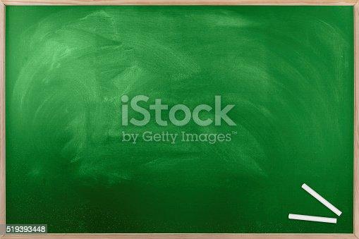 639376084 istock photo Blank Green Chalkboard 519393448