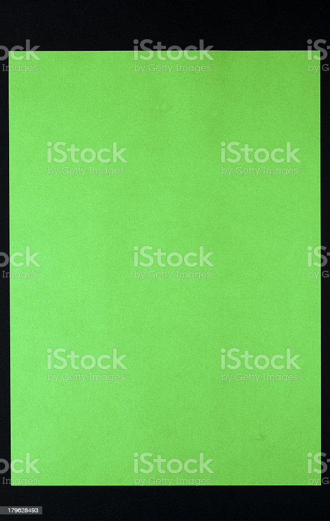 Blank green paper royalty-free stock photo