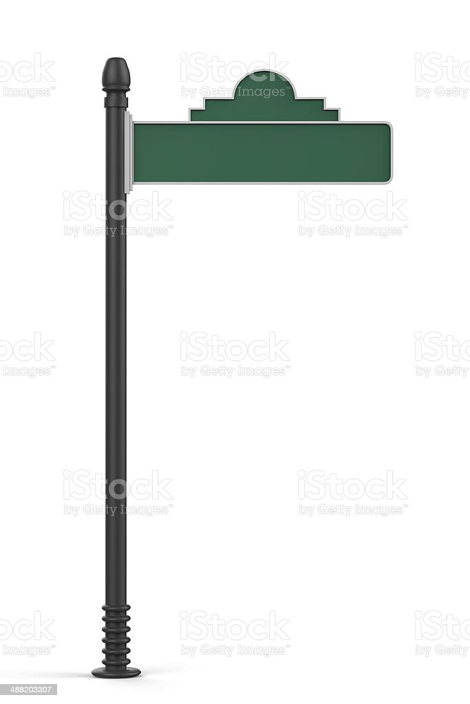 Blank Green Road Sign stock photo