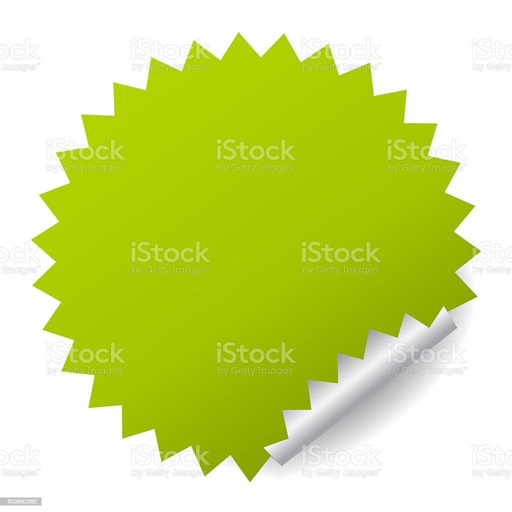 Blank Green Sticker stock photo | iStock