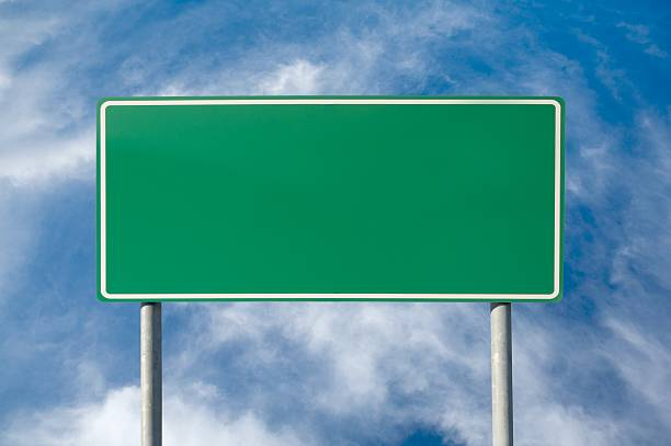 blank green traffic sign - road signs stock photos and pictures