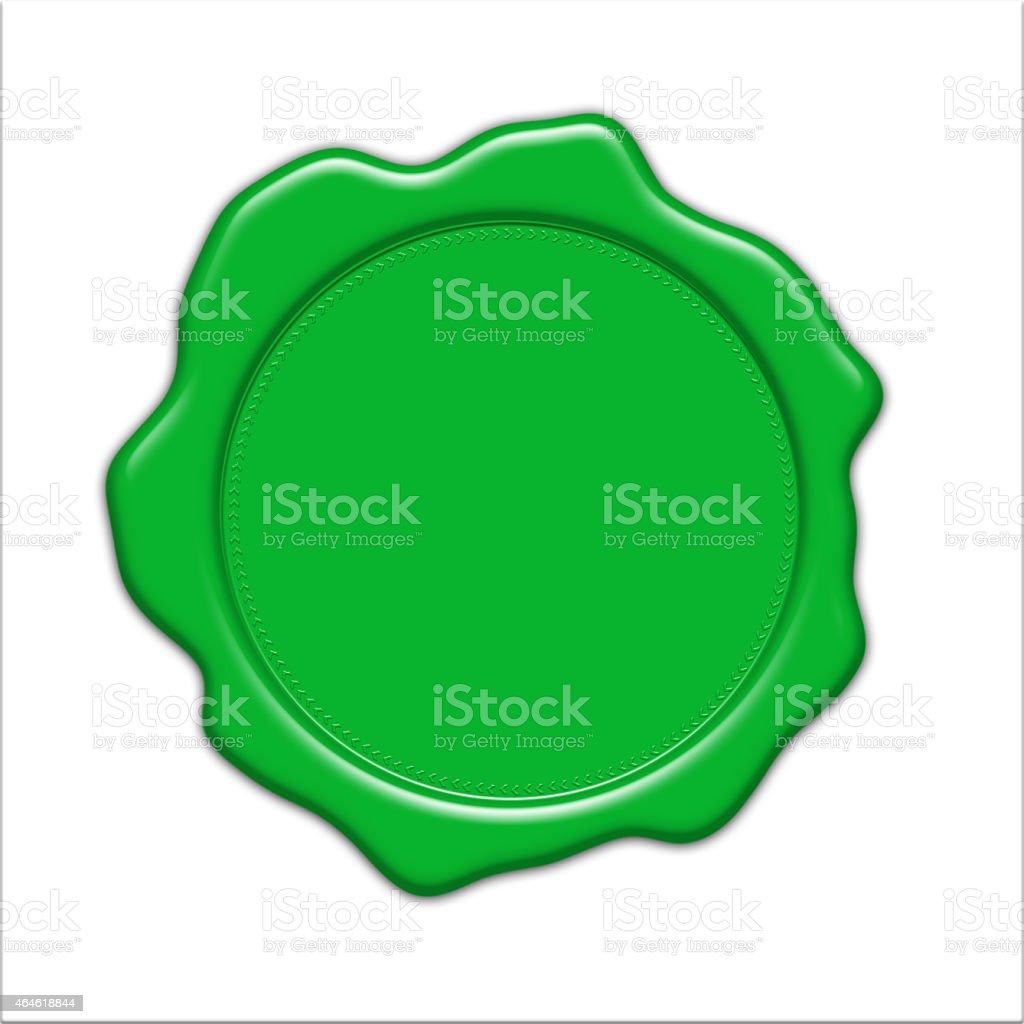blank green wax seal illustration stock photo