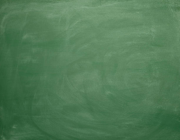 Blank greenboard, empty space with chalk traces stock photo