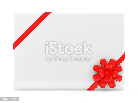670414478 istock photo Blank Greeting Card isolated on white background 534100221