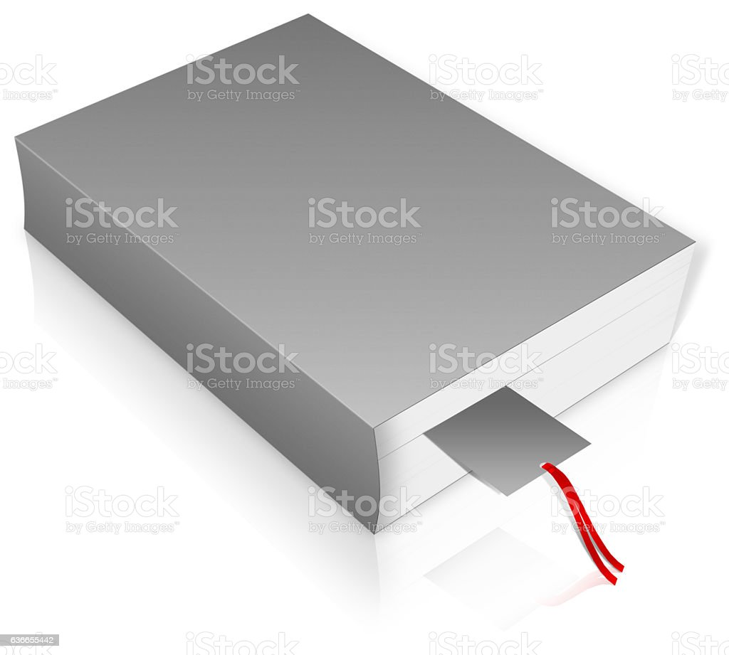 blank grey book cover stock photo