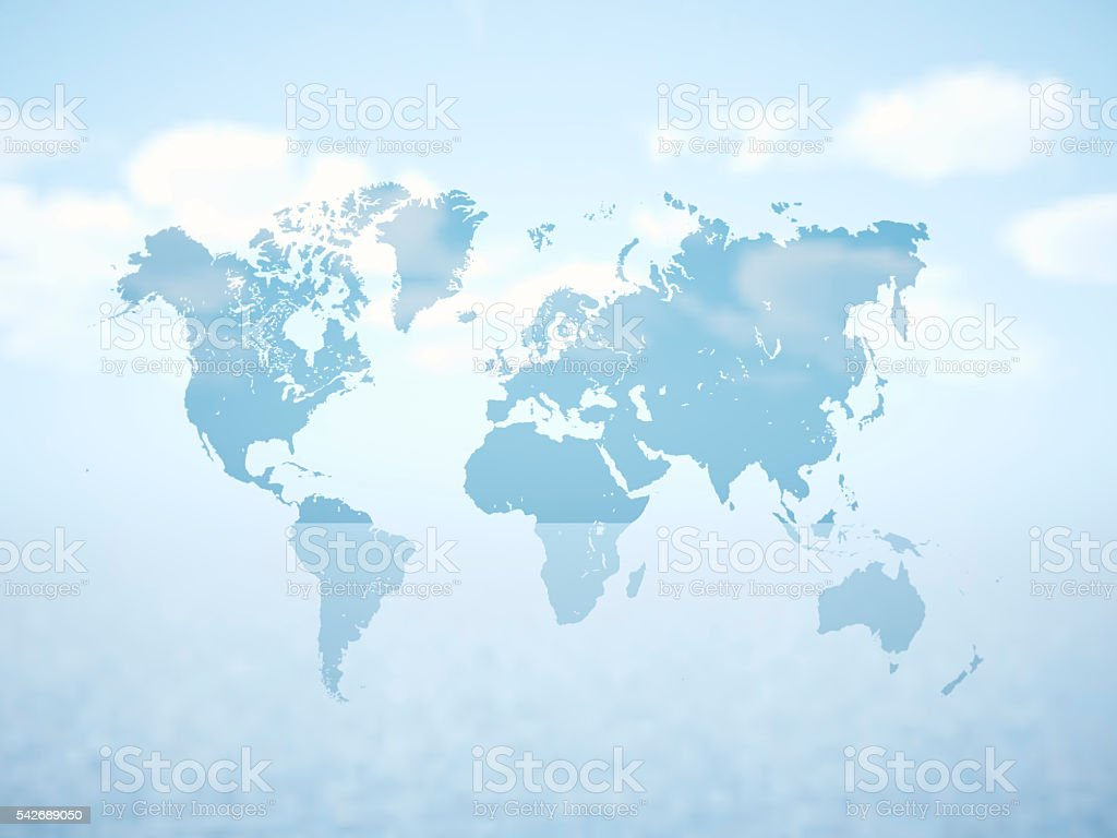 Blank grey political world map 3d rendering empty white clouds blank grey political world map 3d rendering empty white clouds royalty free stock gumiabroncs Image collections