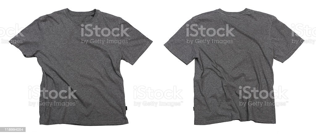 Blank grey t-shirts. stock photo