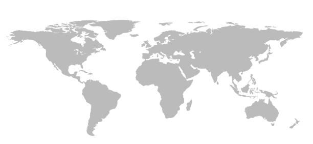 world map grey stock photos