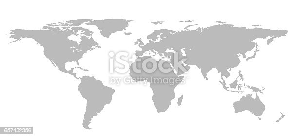 blank grey world map isolated on white background infographics illustration stock photo more pictures of abstract istock