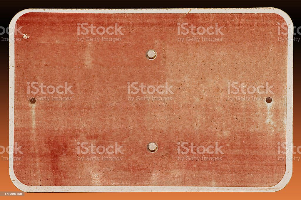Blank grungy sign (w/ Clipping path) royalty-free stock photo