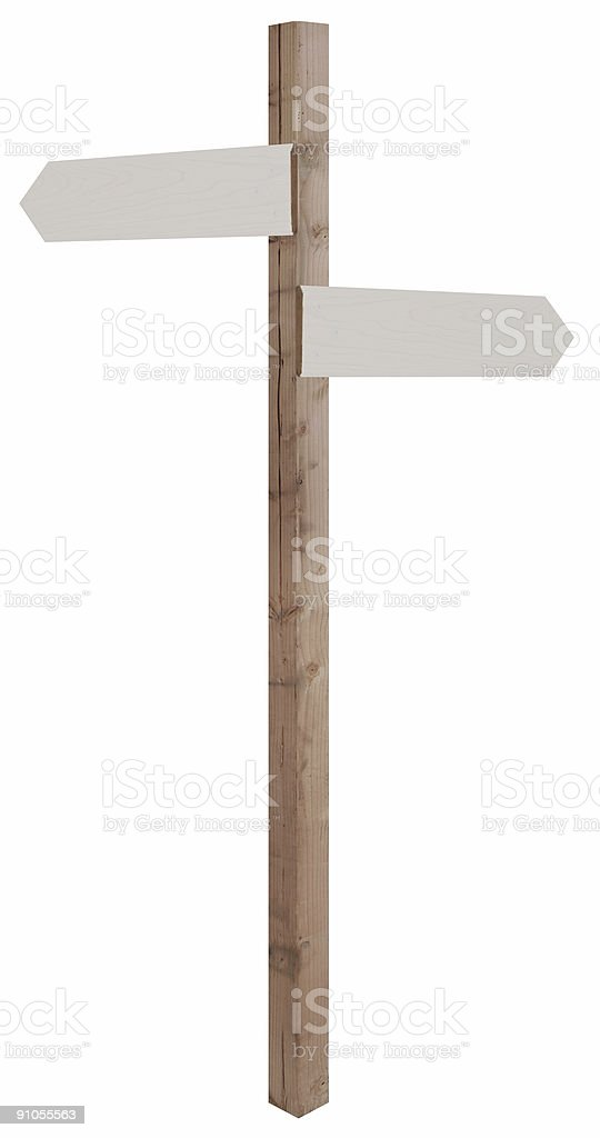 blank guide post stock photo