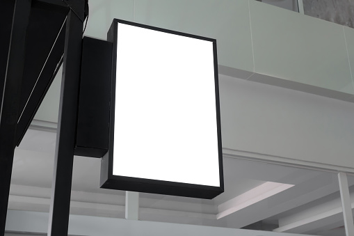 blank hanging billboard mockup with clipping path