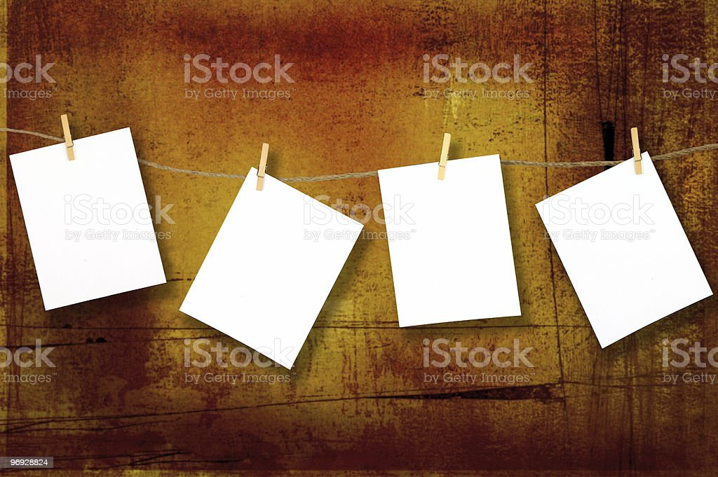 Blank Hanging Papers royalty-free stock photo