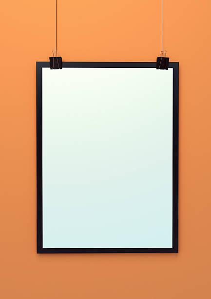 Blank hanging poster template 3d illustration – Foto