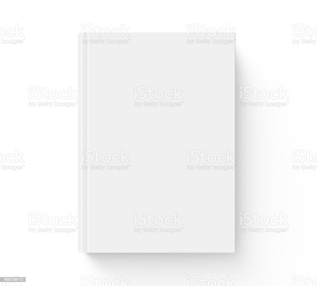 Blank hard cover book template stock photo