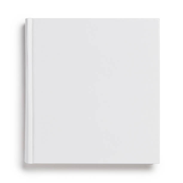 Blank hard cover square book on white Blank hard cover square book, isolated on white background hardcover book stock pictures, royalty-free photos & images
