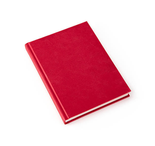 Blank hardcover book with copy space Blank red hardcover book isolated on white background with copy space hardcover book stock pictures, royalty-free photos & images