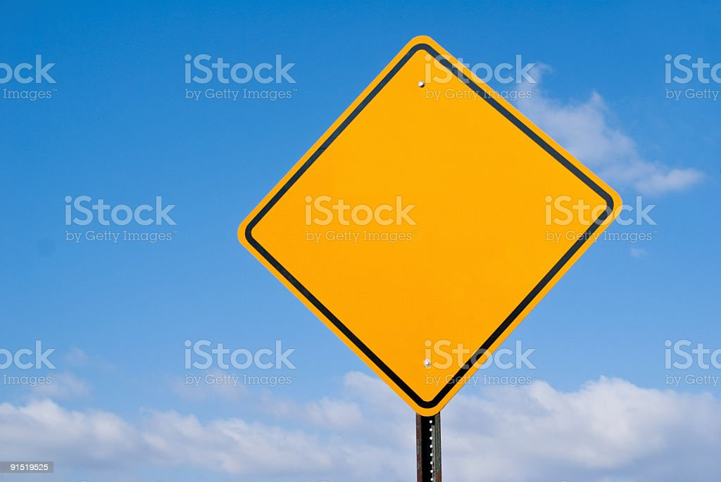 Blank Hazard Sign - Add Your Own Message stock photo