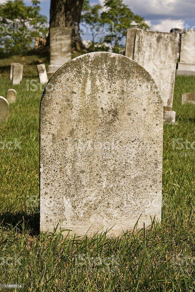 Blank Headstone stock photo