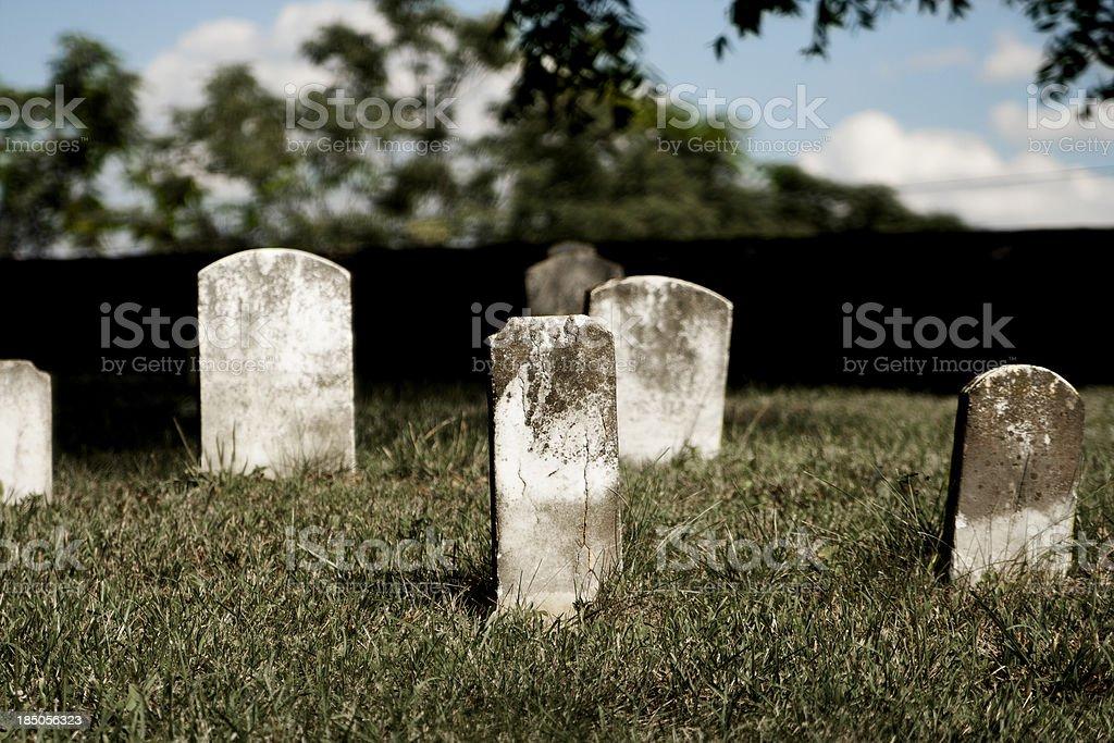 Blank Headstones royalty-free stock photo